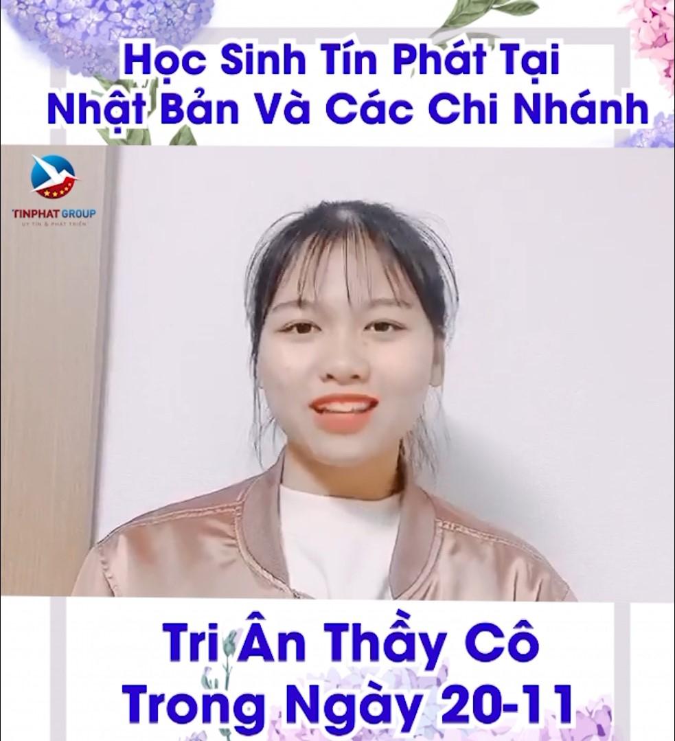 HỌC SINH TÍN PHÁT TRI ÂN THẦY CÔ DỊP 20/11