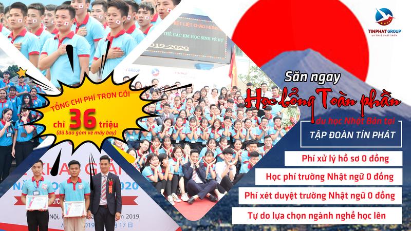 Thông báo tuyển sinh du học Nhật Bản – Học bổng toàn phần Tín Phát tháng 10/2020, tháng 4/2021