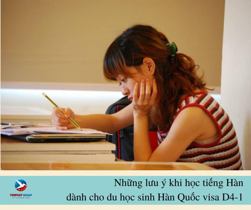 Những lưu ý học tiếng Hàn dành cho học sinh visa D4-1 khi đi du học Hàn Quốc