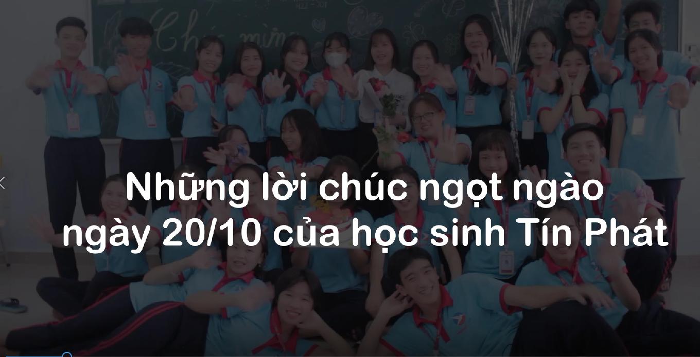 Học viên, cựu học viên Tín Phát gửi lời chúc mừng ngày Phụ nữ Việt Nam 20/10
